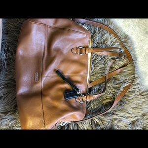 Authentic leather COACH bag & matching wallet